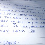David's Handwritten Poems