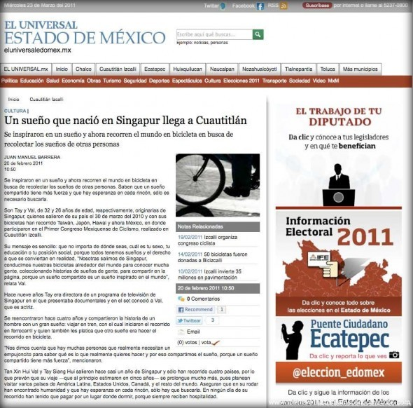 El Universal Article