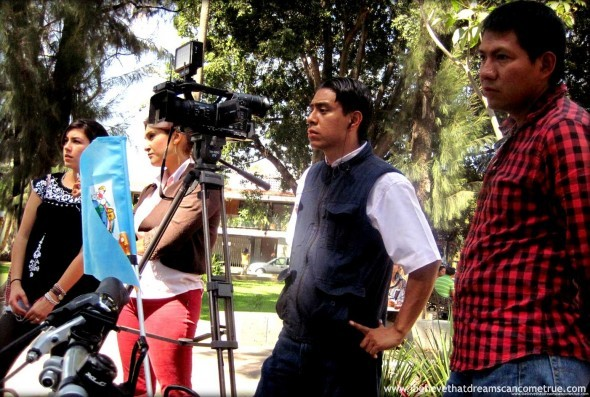 "Our ""Media Crew"" in Oaxaca - Rubén and Elise from Mundo Ceiba"