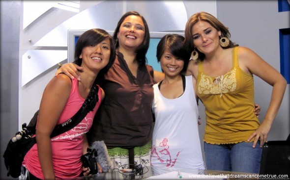 From left: Tay, Marisol, Val, Maryjose inside the TV Studio