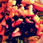 to warm salads with oriental dressings...