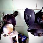 All the imaginable pots & pans & ladles