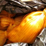 """Chuchitos (which means little dogs)"" - small firm tamales wrapped in corn husks"