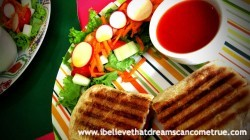 Panini with fresh organic ingredients - we always receive the best
