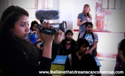 We gave a girl the opportunity to experience behind the camera...