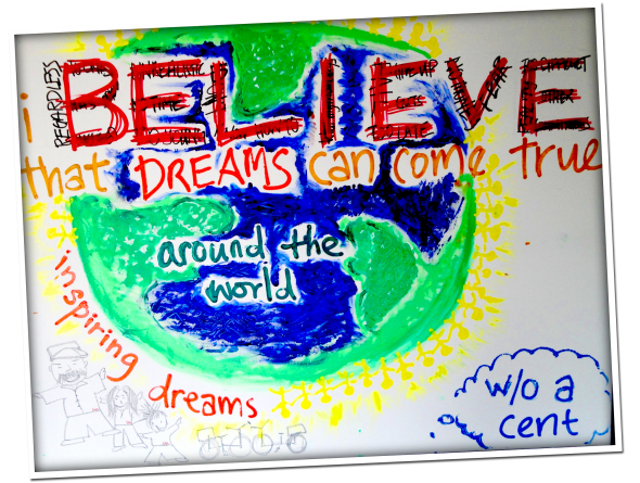 """I Believe That Dreams Can Come True"" Painting"