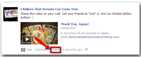 "Share our ""Thank you, Japan!"" video and win a limited edition abundance button!"