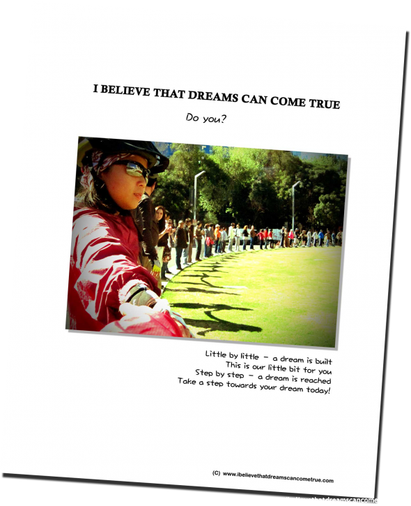 I Believe That Dreams Can Come True - Calendar 2012