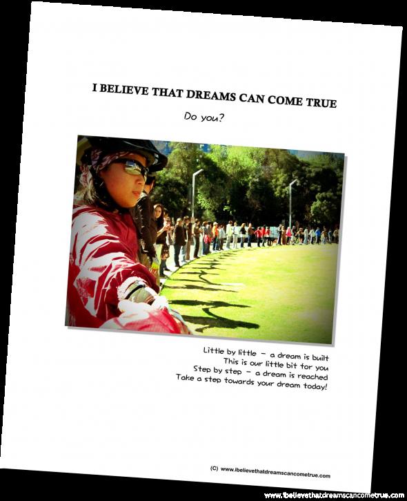 I Believe That Dreams Can Come True - Calendar 2012