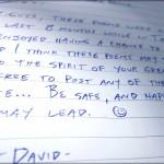 David's Handwritten Poems