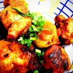 """Gei Liao (extras on the side, 加料)"" - Meatballs, coated with egg and then fried"