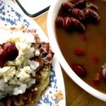 Fijolitos con queso y cebolla - a welcomed favorite